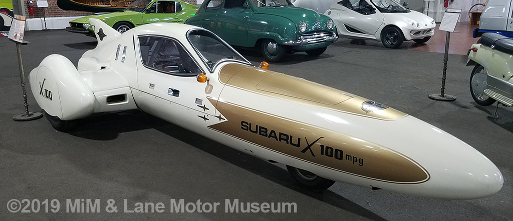 The Subaru X-100 was built for one purpose only - travel 100 miles on one tank of gas