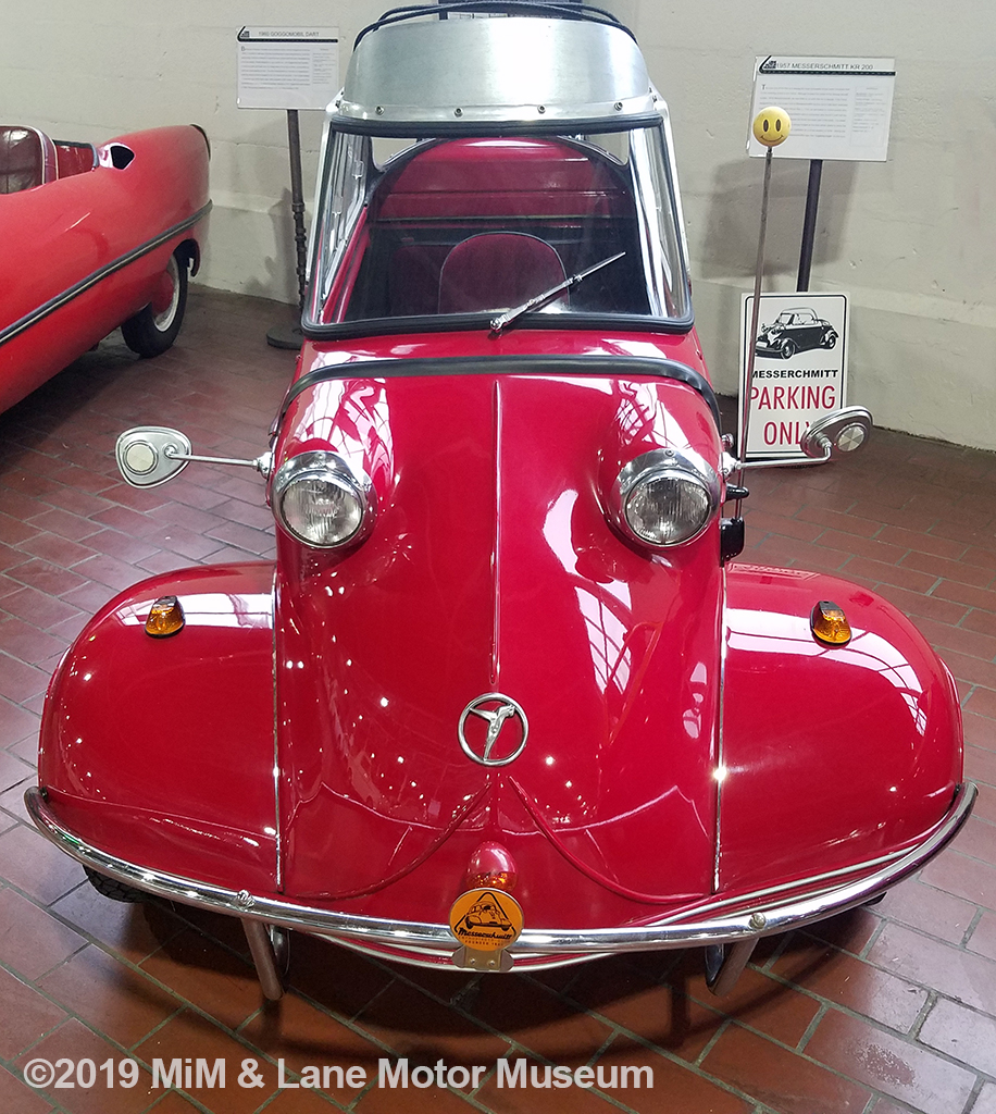 Unusual for a microcar, this model featured wide front fenders