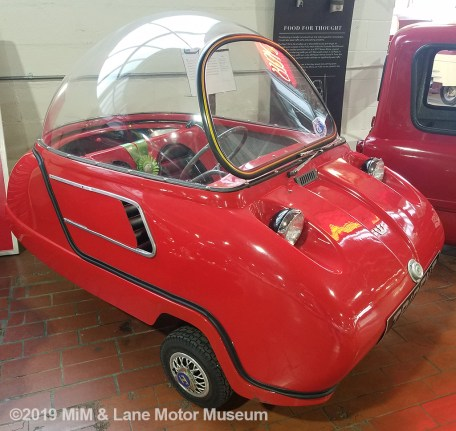 "The Peel two-seater ""bubble"" top car"