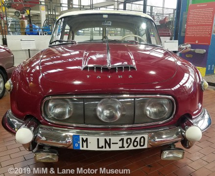 Tatra car with a unique, 3-headlight design