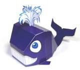 Papercraft imprimible y armable de una Ballena / Whale. Manualidades a Raudales.
