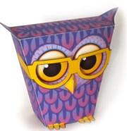 Papercraft imprimible de un búho / owl. Manualidades a Raudales.