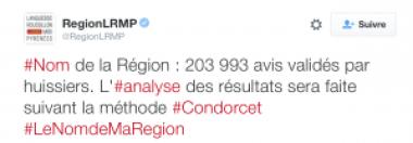Tweet Région LRMP