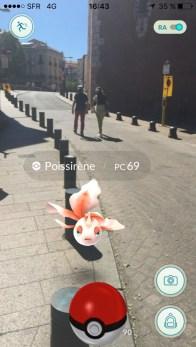 Pokemon devant le Castillet