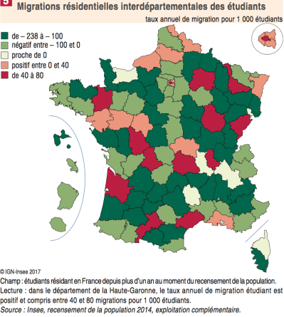 Soldes étudiants - Source INSEE