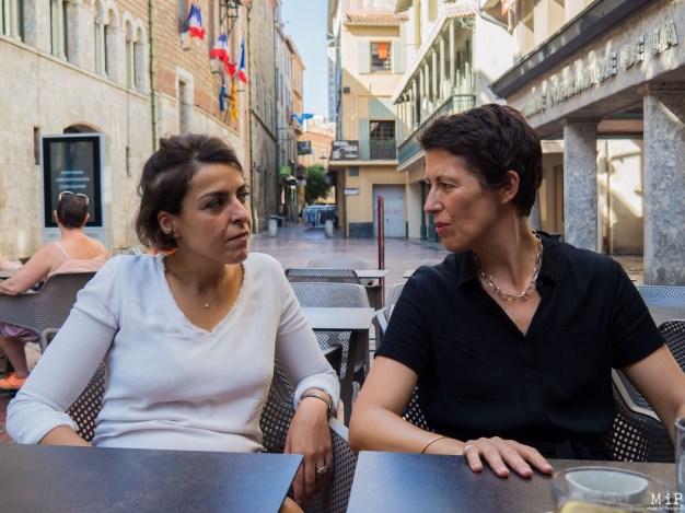 Nadia Karbouch et Clotilde Ripoull