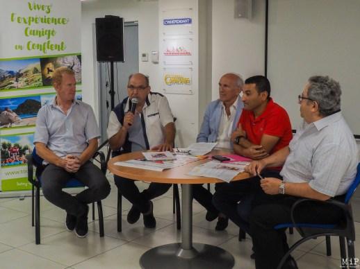 Les adjoints au sport et à la sécurité de la ville de Prades, José Montessino et Michel Moly