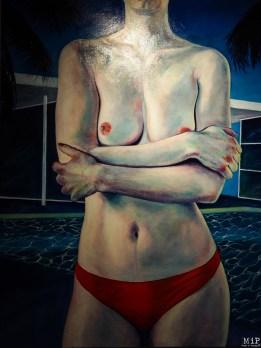 """""""Bather South Beach"""" - Acrylique 150 X 100"""