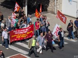 Mobilisation contre la réforme du travail à Perpignan-9210013