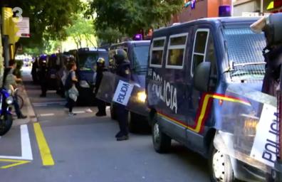 Image extraites d'une vidéo diffusée sur la chaîne de télévision catalane TV3