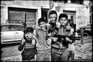 """When guns makes kids smile"""