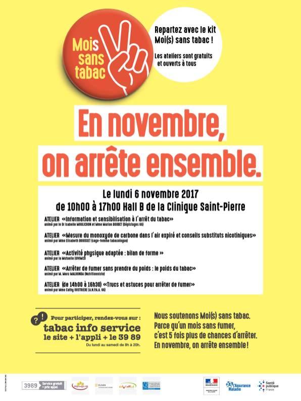 Mois sans tabac - Depistage66 - Clinique Saint Pierre