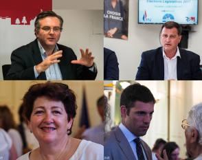 De gauche à droite - Romain Grau - Louis Aliot - Laurence Gayte - Sébastien Cazenove