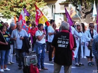 Perpignan - Manifestation pour défendre la fonction publique grève