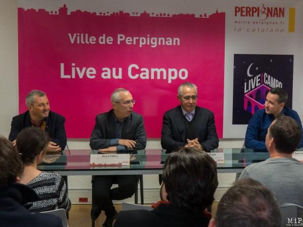 De gauche à droite - Pierre Olivier Barbé - Michel Pinell - Jean Marc Pujol - David Garcia