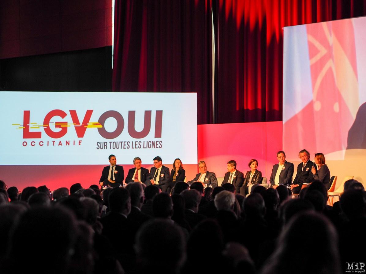 Mobilisation pour la LGV à Perpignan-290215