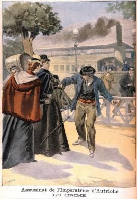 Assassinat de l'impératrice Sissi 1898