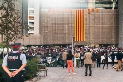 Photographie issue d'un photoreportage sur l'Indépendance de la Catalunya à Gérona réalisé par le service jeunesse de la ville de Perpignan