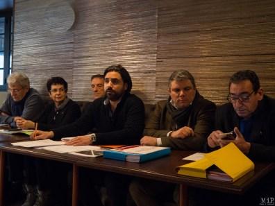 De gauche à droite - B. Lemaire - MT. Costa Fesenbeck - JY. Gatault - A.Bolo - X.Baudry - M.Bellebou