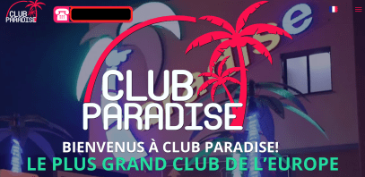 Capture écran du Puticlub Paradise