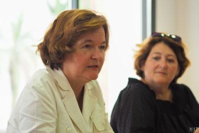 Image d'archive - La Ministre des affaires européennes, Nathalie Loiseau dans les PO et Laurence Gayte