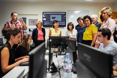 De gauche à droite : Hermeline Malherbe - Carole Delga - Christine Rey - Agnés Langevine -Armelle Revel-Fourcade