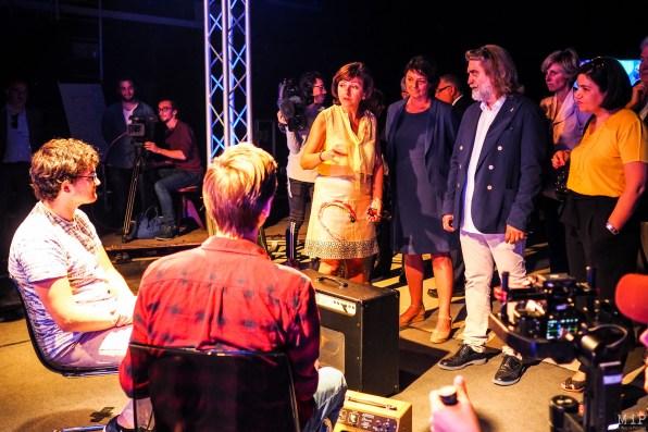 De gauche à droite - Carole Delga - Agnes Langevine - Pierre Roca et Armelle Revel Fourcade