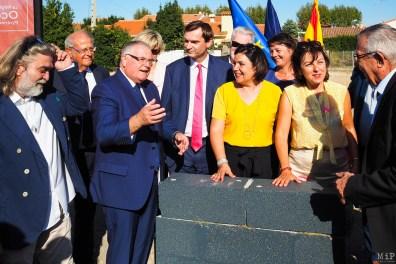 De gauche à droite - Pierre Roca - Jean Sol - François Calvet - Ludovic Pacaud - Armelle Revel Fourcade - Carole Delga et Jean-Marc Pujol
