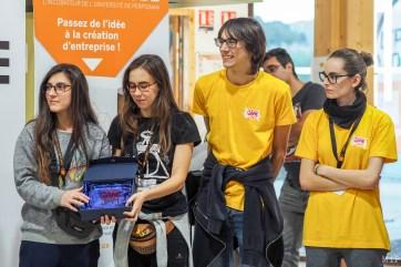 Natalia, Paul, Théodora et Andréa sont étudiants au Tecnocampus game design de Mataró