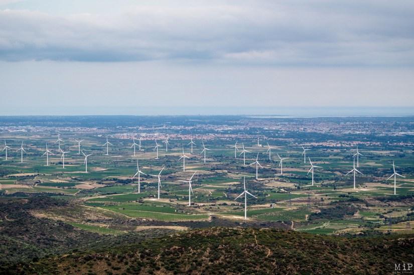 Vue de Força Real sur la plaine du Roussillon