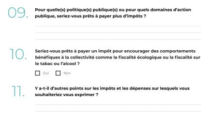 Fiscalité - Grand Débat National