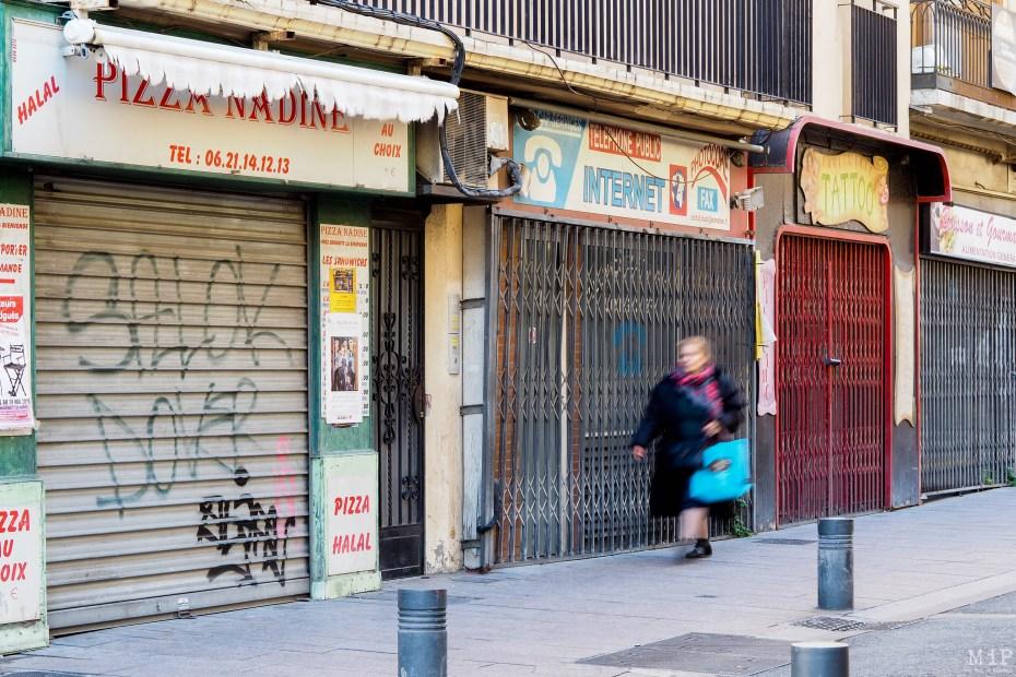 Rue des Augustins Commerces fermés à Perpignan - Février 2019