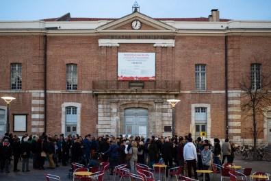 Théâtre Municipal Perpignan manifestation contre travaux Mars 2019