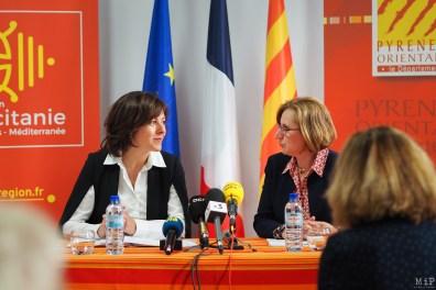 Carole Delga et Hermeline Malherbe annoncent le lancement de l'Office public de la langue catalane_