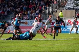 Dragons Catalans vs Hull FC Super League Gilbert Brutus avril 2019