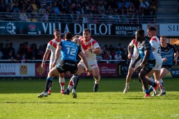Dragons Catalans vs Hull FC Super League Gilbert Brutus avril 2019