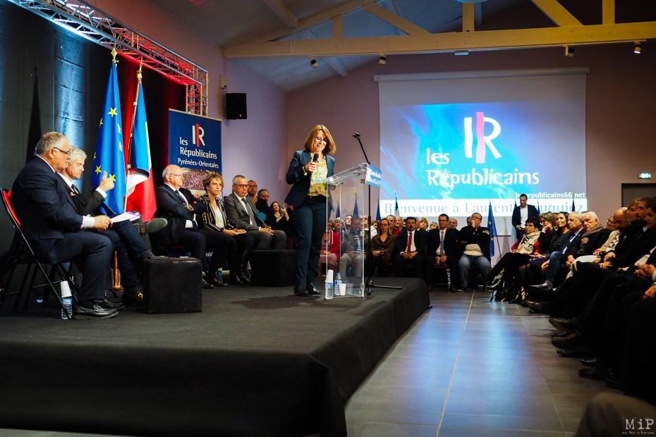 À la tribune Christine Moulenat-Gavalda à la tête des LR66