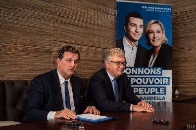 Louis Aliot Jean-Paul Garraud RN Européennes avril 2019 Perpignan