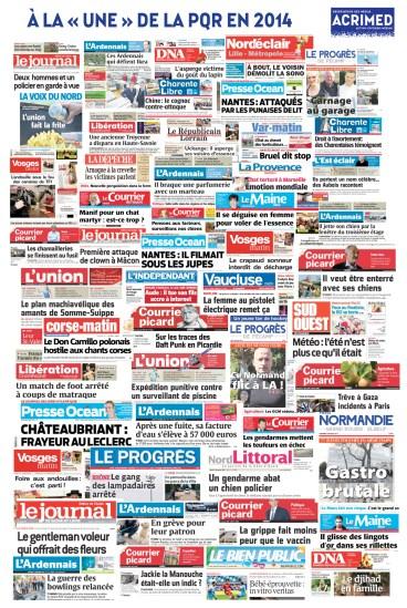 Les unes de la presse quotidienne locale de 2014