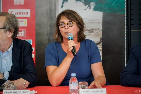 Agnès Langevine candidate mairie Perpignan