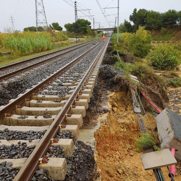Dommages voie Montpellier - Perpignan