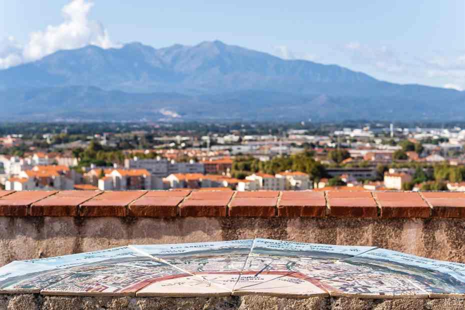 Palais des Rois de Majorque et vues sur Perpignan
