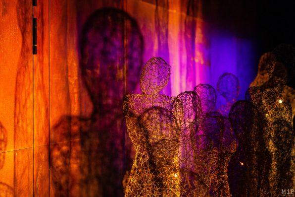 Théâtre de l'Archipel Perpignan Vues Aujourd'hui Musique Sculptures parClaudine Meyer. Conception, création sonore et développement parErik Lorré.Florent Colautti audéveloppement et interaction sonore