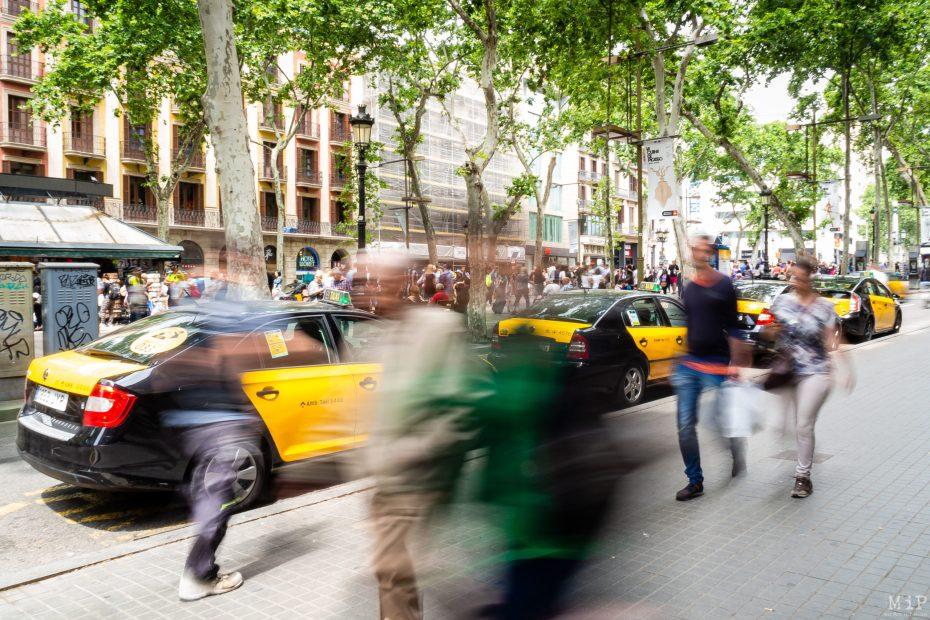 Barcelone circulation Ramblas