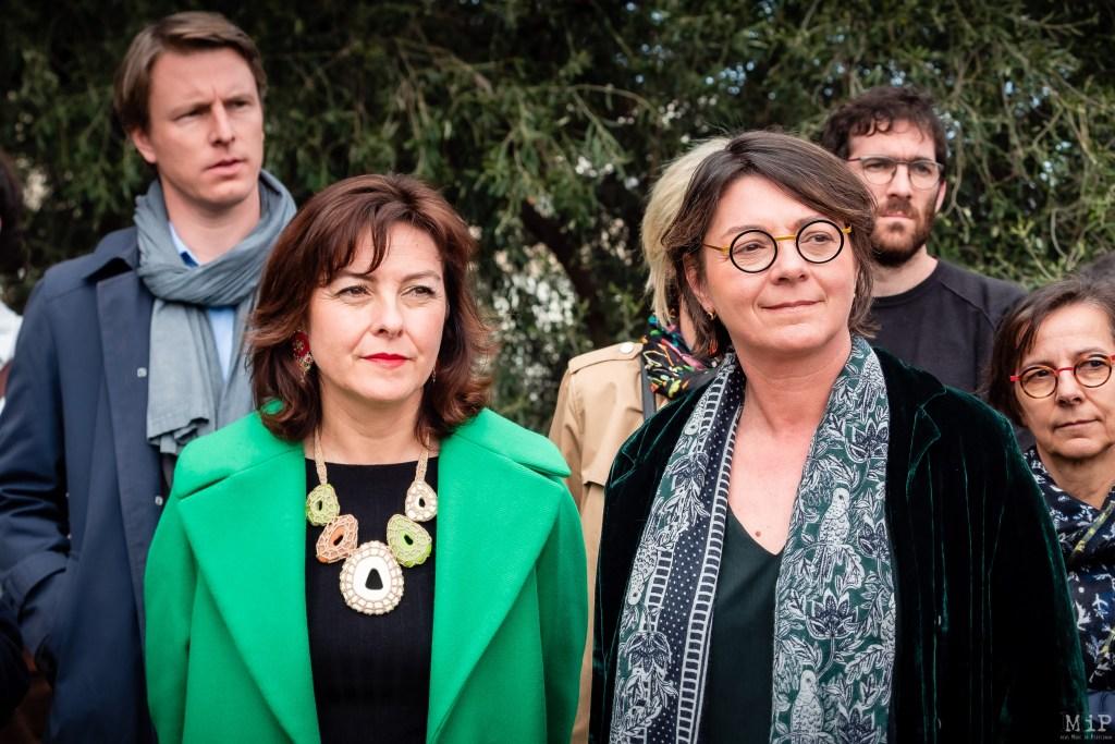Agnès Langevine et  Carole Delga à l'Université de Perpignan © Arnaud Le Vu / MiP