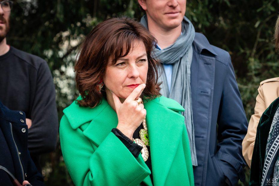 Carole Delga EELV Europe Ecologie Les Verts visite Université de Perpignan © Arnaud Le Vu / MiP / APM