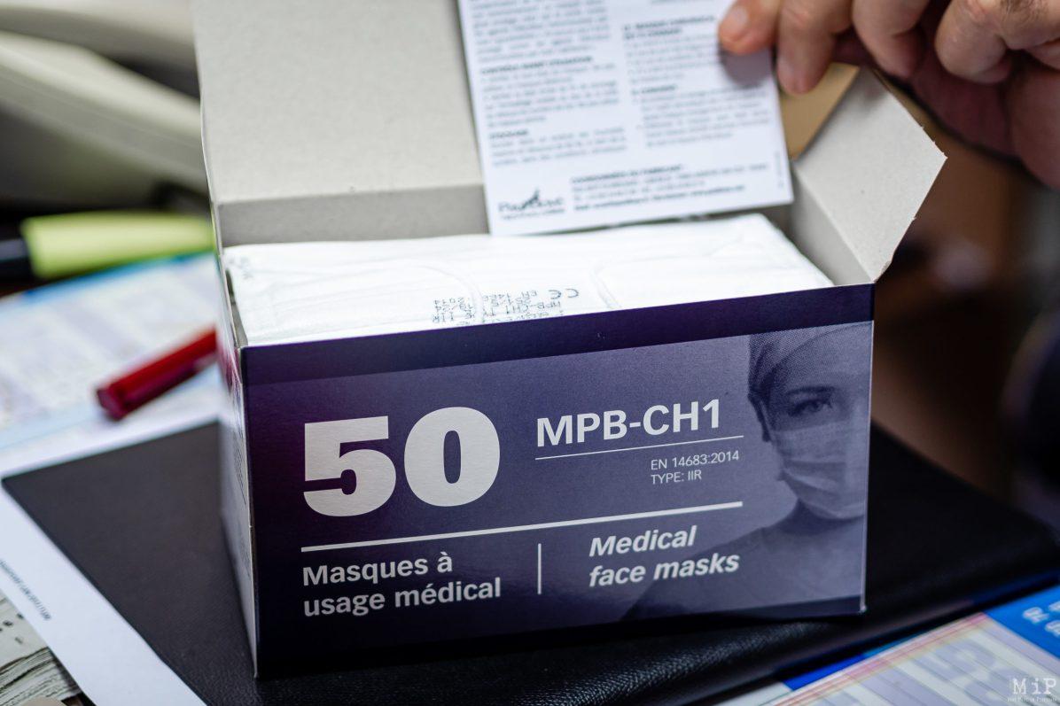 Coronavirus masque protection © Arnaud Le Vu / MiP / APM
