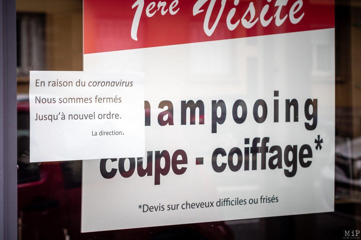Illustrations Coronavirus Covid-19 vie quotidienne commerces Perpignan France © Arnaud Le Vu / MiP / APM