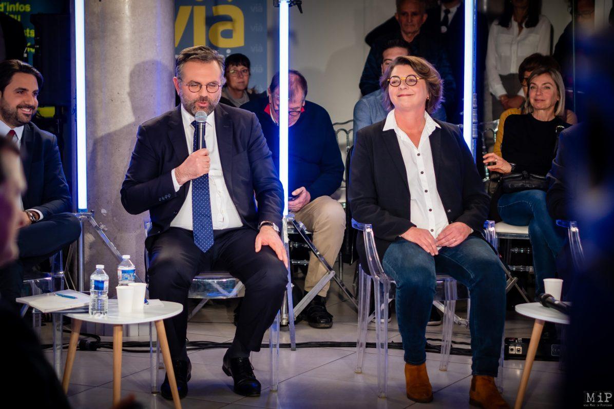 Romain Grau Municipales 2020 Perpignan débat L'Indépendant Via Occitanie premier tour © Arnaud Le Vu / MiP / APM