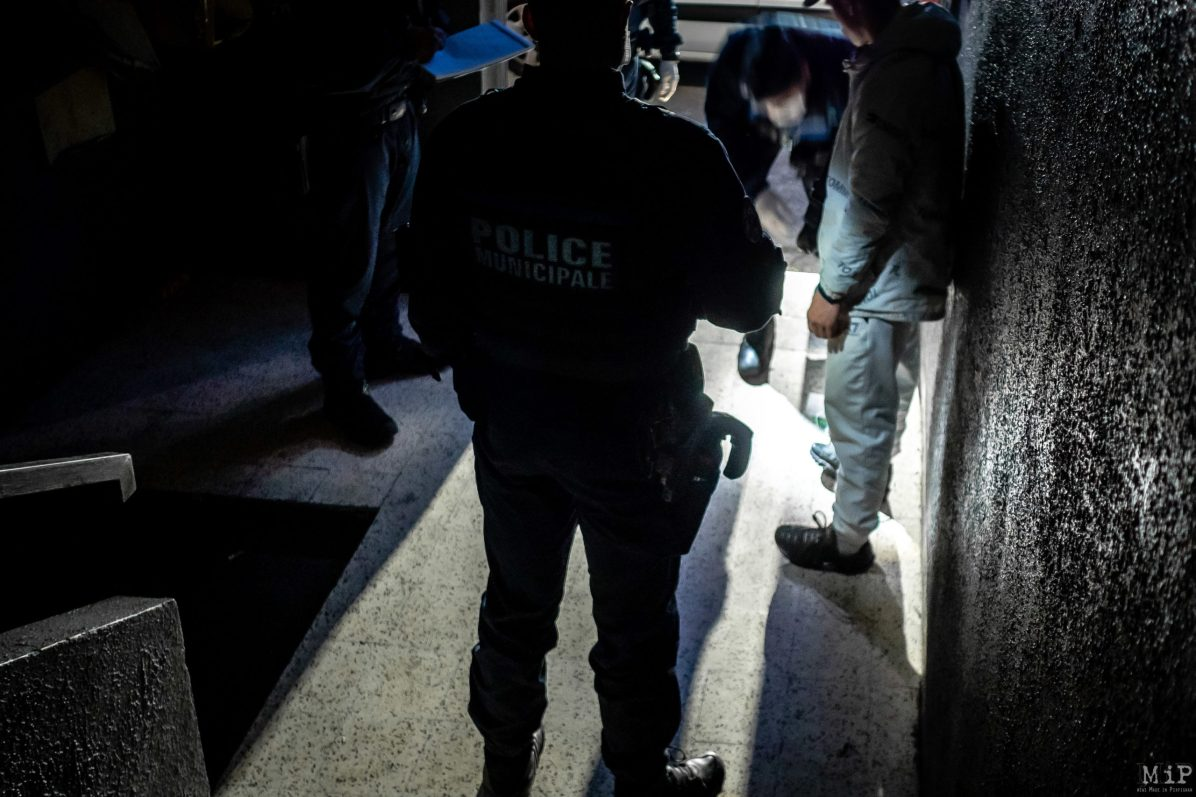 ILLUSTRATION Perpignan, France 04/04/2020 Police municipale couvre-feu contrôle nuit ronde stupéfiants dealer